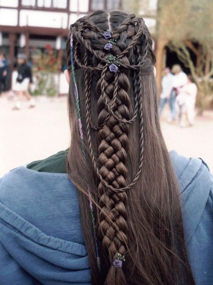 Lord of the rings hair braiding elftopia